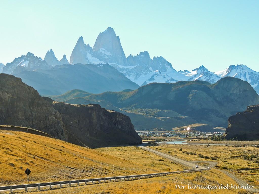 Llegando a El Chalten Cerro Fitz Roy