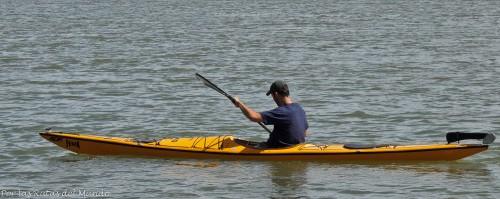 Ale en kayak