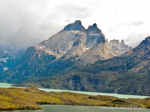 Los Cuernos del Paine desde el mirador del Lago Nordenskjöld