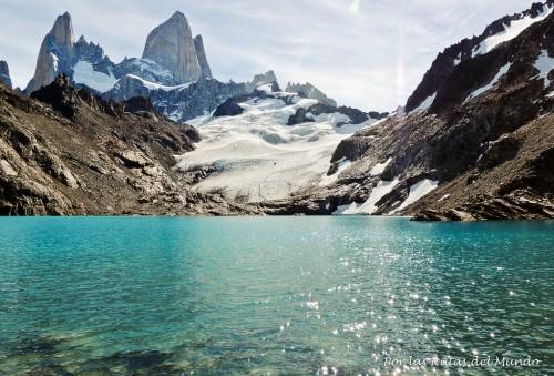Laguna de los Tres, Cerro Fitz Roy y valió la pena tanto esfuerzo para llegar.
