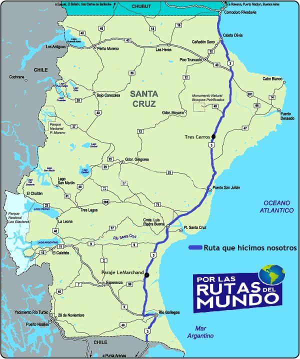 guia e itinerario para viajar por la ruta 3 en santa cruz