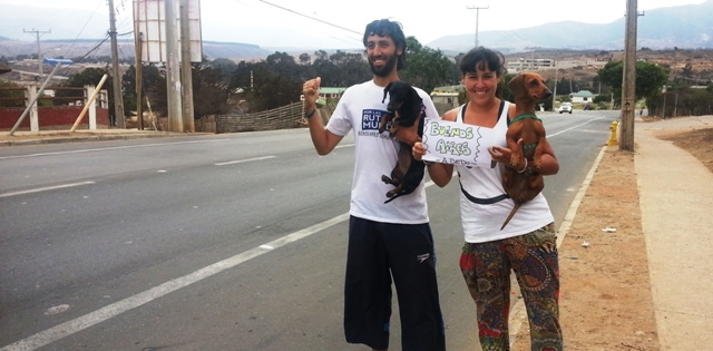 Viajar a dedo y… ¡con perros!