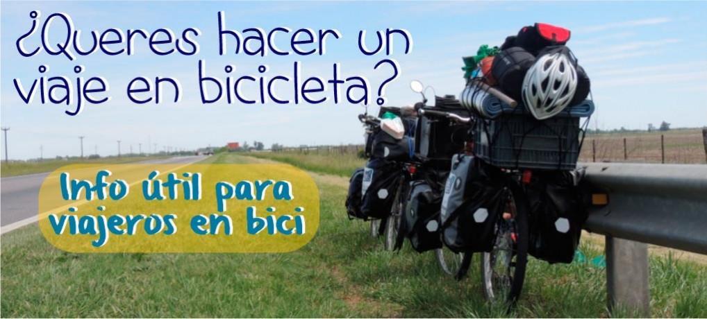 ¿Querés hacer un viaje en bicicleta?