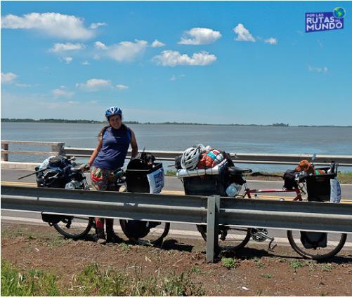 Vir en bicicleta con Pioja y Pumba