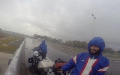 Frío, viento y lluvia. Pedaleando con tormenta.