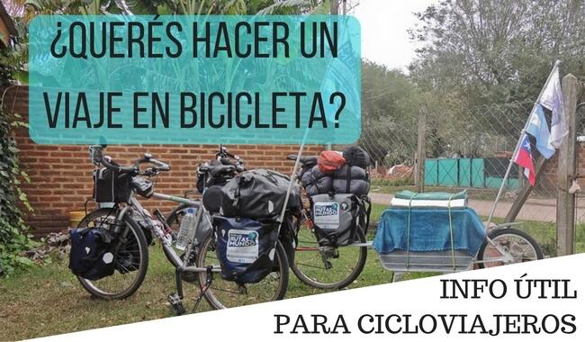 hacer un viaje en bicicleta