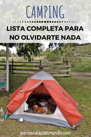 c0d67544a15 Qué llevar cuando vas de camping: lista completa para no olvidarte nada